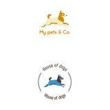 Skokowy psi logo ilustracji