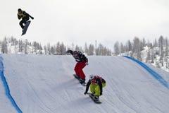 skokowy snowboarder Zdjęcie Stock