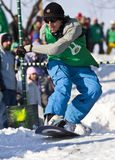 skokowy snowboarder Zdjęcia Royalty Free