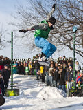 skokowy snowboarder Obraz Royalty Free