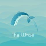 Skokowy wieloryb Zdjęcie Royalty Free