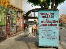 Skokrämbås i Tijuana, Mexico Arkivbild