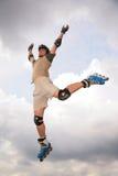 skoku rolownika niebo Zdjęcia Royalty Free