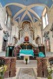 SKOKY, REPÚBLICA CHECA, el 27 de julio de 2015 - interior de la iglesia de Fotos de archivo libres de regalías