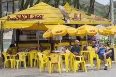 Skol海滩酒吧在里约 库存照片