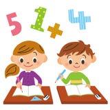 Skola barn, studie Royaltyfri Bild