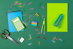Skola brevpapper Arkivfoto