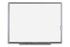 Isolerad växelverkande whiteboard Royaltyfria Foton