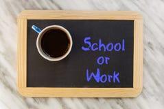 Skola eller arbete Arkivbild