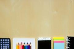 Skola- eller kontorsskrivbord Royaltyfria Bilder