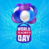 Skola för dag för ` s för lärare för ryggsäck för tryckballongskola stock illustrationer