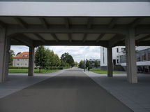 Skola 2014 för Dessau TysklandBauhaus Arkivbild