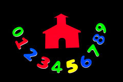 skola för husnummer Arkivbild