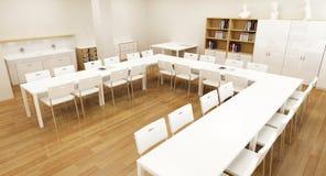 skola för interior 3d Royaltyfri Fotografi