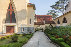 Skola för Notre Dame du Langbianor Couvent des Oiseaux Royaltyfria Foton