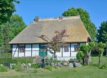 Skola huset, Middelhagen, Ruegen, det baltiska havet, Tyskland Arkivbilder