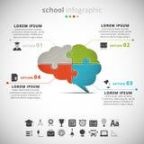 Skola Infographic Arkivbilder