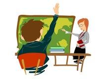 Skola lärare Arkivbild