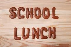 Skola lunch royaltyfri foto