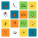 Skola- och utbildningssymboler Royaltyfri Foto