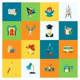 Skola- och utbildningssymboler Fotografering för Bildbyråer