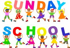 skola sunday stock illustrationer
