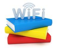 Skola WiFi stock illustrationer