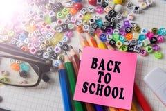 Skolabrevpapper som inramar för skola och kontor Education/BACK royaltyfri foto