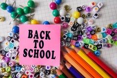 Skolabrevpapper som inramar för skola och kontor Education/BACK fotografering för bildbyråer