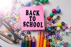 Skolabrevpapper som inramar för skola och kontor Education/BACK royaltyfria bilder