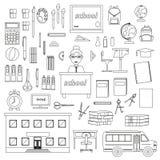 Skolabrevpapper, vektoruppsättning för skola vektor illustrationer