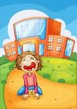 Skolagråt Arkivbild