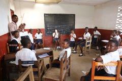 Skolagrupp Fotografering för Bildbyråer