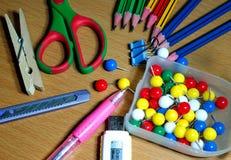 Skolakontorstillförsel Royaltyfri Foto