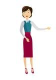 Skolalärare Character Arkivbild