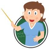 Skolalärarelogo royaltyfri illustrationer
