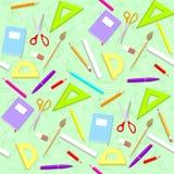 Skolamodell Bakgrund med objekt Arkivfoto