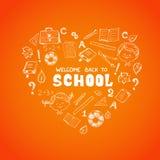 Skolan anmärker i formen av hjärta Royaltyfria Foton