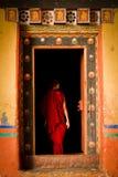 Skolan för Rinpung Dzong fästningkloster för munkar, Paro, Bhu Arkivfoto