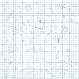 Skolan skissar vektor illustrationer