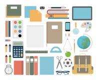 Skolaobjektuppsättning vektor illustrationer