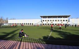 Skolastadion Arkivfoto