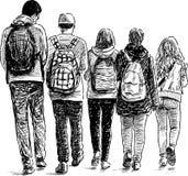 Skolastudenter Arkivbild