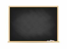 Skolasvart tavla Smutsa ner den svarta svart tavlan med spår av krita som isoleras på bakgrund stock illustrationer