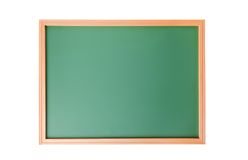 Skolasvart tavla som isoleras på vit Royaltyfria Foton