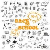 Skolasymbolsbeståndsdelar Arkivfoton