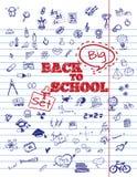 Skolasymbolsbeståndsdelar Arkivbilder