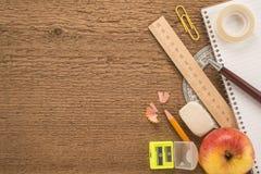 Skolatillförsel och Apple Arkivbild