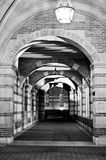 skolawalkway royaltyfria foton