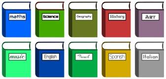 Skolböcker Arkivbild